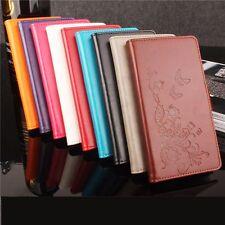 Funda libro flip piel sintetica tapa diseño flores para Asus Zenfone Max ZC550KL