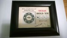 """""""TEXAS HOLD'EM -All In,except you're not getting this Chip""""  Poker Chip-Plaque"""