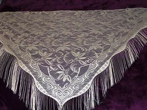 Lace Shawl Gold Floral Design