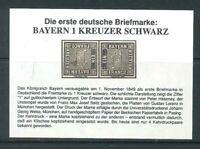 Altdeutschland Bayern - 1 KREUZER SCHWARZ - Neudruck - Faksimile