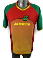 Desire Collection Jamaica Soccer Football Federation Shirt Mens Size Large