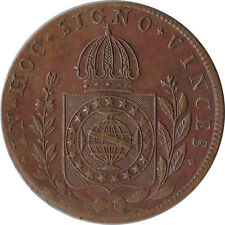 1828 Brazil 80 Reis Large Coin Not Counterstamped KM#366.1