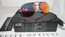 New Authentic Oakley Elmont Medium Satin Black Ruby Iridium OO4119-0458
