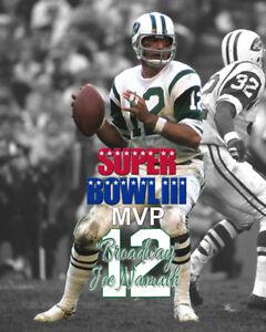 "New York Jets ""BROADWAY"" JOE NAMATH SB 3 MVP Unsigned Spotlight Photo 8x10 #1"