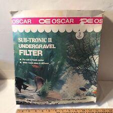 "15 Gallon SUB-TRONIC II Undergravel Filter by OE Oscar 11 1/4"" x 23"" x 1/2"""
