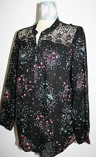 PER UNA Black Lace Trim Top Size 18 BNWT @ £35.00 ~ The High Street Collection