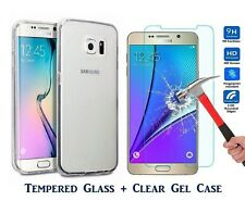 Samsung Galaxy J3 2017 Tempered Glass Screen Protector and Tpu Gel Case UK