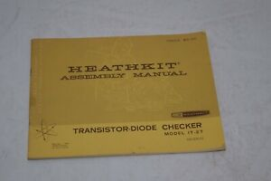 Heathkit Model IT-27 Transistor-Diode Checker Manual