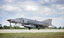 F 4E Fighter Aircraft Phantom 2 Turkish Air Force Reprint Photo 12x7 Inch