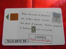 RARE TELECARTE - F 149 - UNIPRIX - PAPIER RECYCLE - LUXE - Cote 12 €