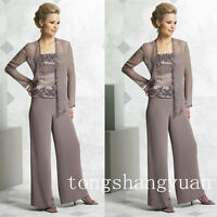 Pants Suit Mother Of The Bride Dress Formal Applique Plus Size 8 12 14 16 18 20+