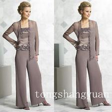 Pants Suit Mother Of The Bride Dress Formal Applique Plus Size 8 12 14 16 18 20+