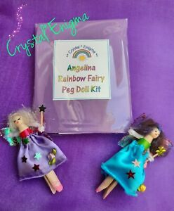 Angelina Rainbow Fairy Craft Kit ~ Make Two Magical Peg Doll Fairies
