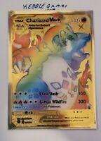 Charizard VMAX 74/73 Champion's Path GOLD METAL Pokemon Card CUSTOM - In Hand