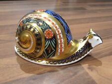 Royal Crown Derby Paperweight . Ltd Edition Garden Snail