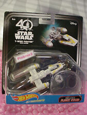 40 Years STAR WARS Starships Y-WING FIGHTER GOLD LEADER✰2017 HOT WHEELS✰Stand