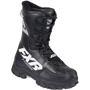 FXR Men's X-Cross Speed Lace Winter Snow Snowmobile Insulated Boots - Black