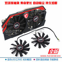 1 pair About MSI GTX780Ti/780/760/750Ti R9 290X/290/280X/280/270X Graphics Fan