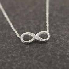 Tiny Infinity Crystal Pendant Necklaces Lucky Number Eight Necklace
