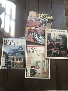 Vintage Architectural Digest House Beautiful Magazines