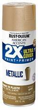 Spray Paint Rust Oleum Metallic Gold Coat Finish Ultra Coverage Multi Purpose