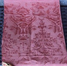 Beautiful Antique 19thC French Silk Damask Home Dec Textile Fabric