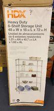 48 in. W x 72 in. H x 18 in. D Decorative Wire Chrome Heavy Duty Shelving Unit