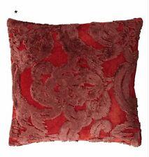 "Pottery Barn Natalia Jacquard Pillow Cover Silk 22""x22"" Red 4074717"