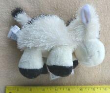 """Ganz Webkinz Silky Plush Mini Stuffed Cow White with Black 6 1/4"""""""
