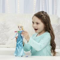 Disney Frozen Crystal Glow Elsa Doll Ages 3+ New Toy Girls Gift Play Necklace