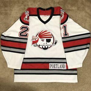 CCM Jason Christie Portland Pirates AHL Hockey Jersey Vintage White Home M