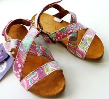 Canvas Medium Width Sandals for Girls Buckle Shoes
