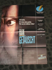 Deceived folded movie promo poster from Germany - Goldie Hawn