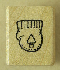 DARCIE'S RUBBER STAMP Tiny mitten with pine tree 1/2 x 1/2 inch