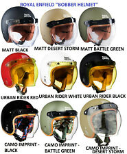 """New Royal Enfield """"CLASSIC BOBBER"""" Motorcycle Helmet (9 Designs), DOT Certified"""
