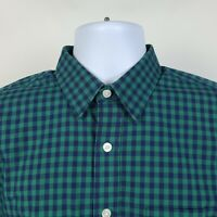 UNTUCKit Slim Fit Blue Green Gingham Check Mens Dress Button Shirt Size Small S