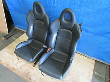 JDM 00-09 Honda S2000 S2K AP1 AP2 OEM Left Right Front Black Leather Seats F20c