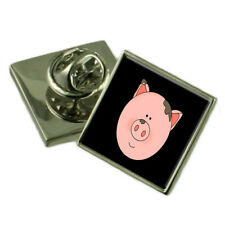 Piglet Pig Face Sterling Silver Lapel Pin Gift Box