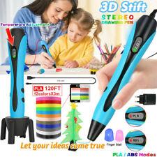 3D Stifte 3D-Druckstift mit 12 Farben 120 ft PLA-Filament 3D DIY Pen 6 Glühen DE