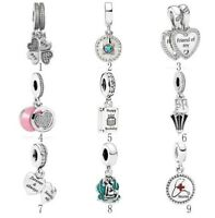 Silver Best Friends Compass Happy Birthday Ariel Shell Mary Poppins Dangle Charm
