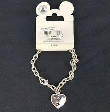"""""""L"""" Initial Mickey Mouse Ears Heart Charm Bracelet Disney"""