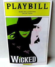 WICKED Playbill Musical Music Hall at Fair Park Dallas TEXAS April 2013