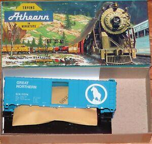 ATHEARN 1204 40' BOX CAR KIT GREAT NORTHERN GN 11374 SKY BLUE