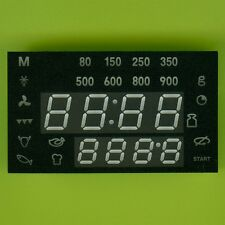 GREEN LED CLOCK DISPLAY 7 SEGMENT 4×10mm + 4×7mm + 24 INDICATORS CC 59×34×20mm †