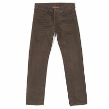 H&M Brown Cotton Straight Leg Jeans Low Waist Pants Straight Trousers Size 31/32