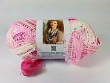 New listing 1 Skein Red Heart Boutique Sashay Sequins Yarn Cotton Candy Super Bulky Pink
