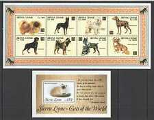 D0993 SIERRA LEONE CATS DOGS FAUNA DOMESTIC ANIMALS PETS YEAR OF DOG KB+BL mnh