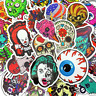 50 Horror Skull Monster w Stickerbomb Retrostickern Aufkleber Sticker Mix Decals