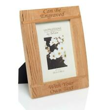 """Personalised 7""""x5"""" Natural Wood Photo Frame Laser - Engraved."""
