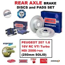 Für Peugeot 207 1.6 16V RC Vti Turbo HDI 2006- > Hinten Bremsbeläge +